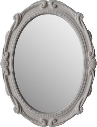 Зеркало с белой рамой