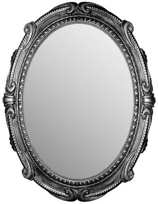 Зеркало с серебристой рамой с патинированием