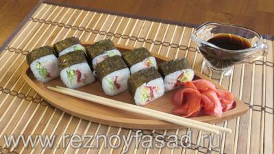 гето, блюдо для суши из дерева